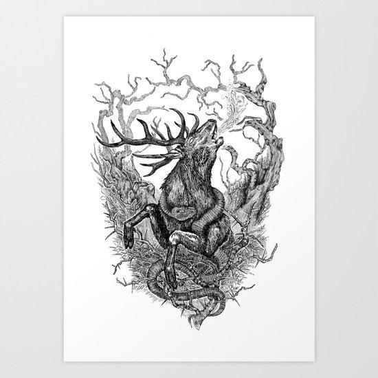 Low roar Art Print