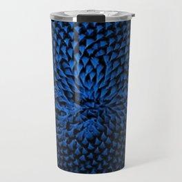 Blue Sunflower Portrait by Jeanpaul Ferro Travel Mug