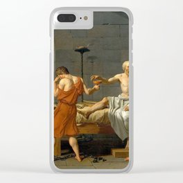 Jacques Louis David The Death of Socrates Clear iPhone Case