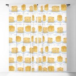 Cute vector homemade pancake day breakfast illustration Blackout Curtain