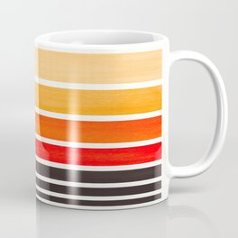 Orange Minimalist Watercolor Mid Century Staggered Stripes Rothko Color Block Geometric Art Coffee Mug