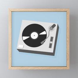 Turntable Illustration Framed Mini Art Print