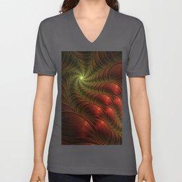 Fantasy Fractal, Coloful And Luminous Unisex V-Neck