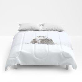 White on white Comforters