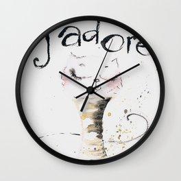 J`adore cat Wall Clock