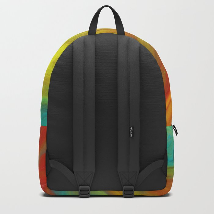 AGATE ABSTRACT OIL PAINTING Backpack