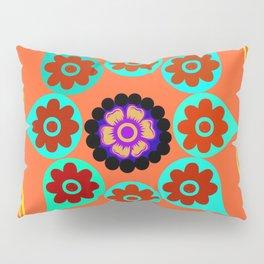Talavera Tile Orange Pillow Sham