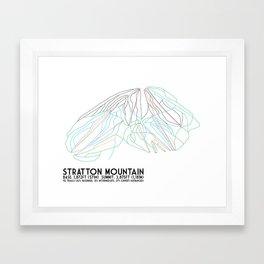Stratton, VT - Minimalist Trail Art Framed Art Print