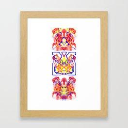 wasp totem Framed Art Print