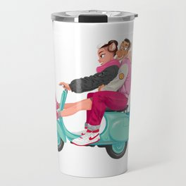 A Valentine with sneaker and Vespa Travel Mug