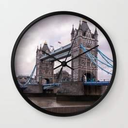 London Photography Tower Bridge of London Europe Travel Dreamy Wall Clock