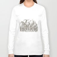 leaf Long Sleeve T-shirts featuring LEAF by auntikatar