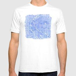 Denver Blueprint City Map Watercolor T-shirt