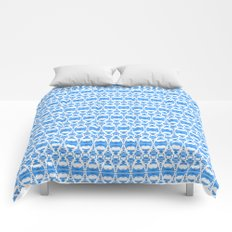 Dividers 02 in Blue over White Comforters