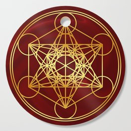 Metatrons Cube, Flower of life, Sacred Geometry Cutting Board