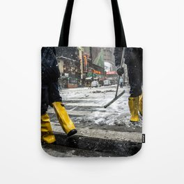 NYC Blizzard of 2015 Tote Bag