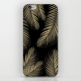 Palm Leaves - Gold Cali Vibes #4 #tropical #decor #art #society6 iPhone Skin