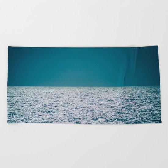 The Ocean Kissing The Shoreline Beach Towel