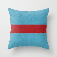 folk blue and red classic Throw Pillow