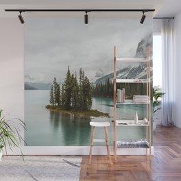 Emerald Spirit Island | Landscape Photography | Maligne Lake | Jasper Alberta Wall Mural