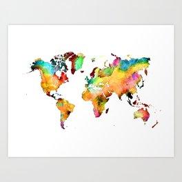 world map 71 Art Print