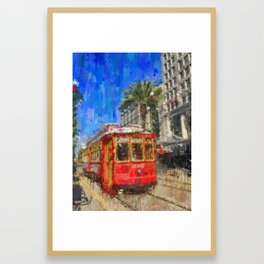 New Orleans Trolley Bus Framed Art Print