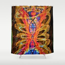 """""""Twin Flames"""" Shower Curtain"""