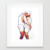 lovers Framed Art Prints featuring Lovers by Allegra Jones