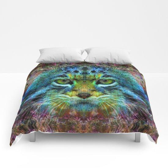 Psychedelic Cat Comforters