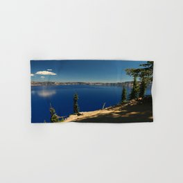 The Deep Blue Of The Crater Lake Hand & Bath Towel
