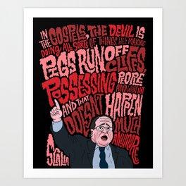 Scalia and The Devil Art Print