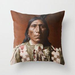 Little Hawk - Brulé - American Indian Throw Pillow