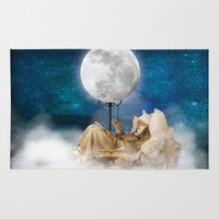 sandman Area & Throw Rugs featuring Good Night Moon by Diogo Verissimo
