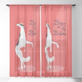 Borzoi in the Bolshoi Sheer Curtain