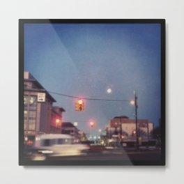 stoplight effect picture moon Metal Print