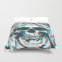 kindle Duvet Covers featuring 200 by ALLSKULL.NET