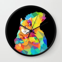 Geometric Squirrel Wall Clock