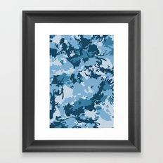 blue fir camo Framed Art Print