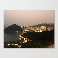 hong kong Canvas Prints featuring Hong Kong  by Isutave