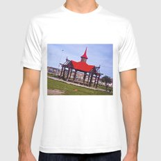 A beautiful red and dreamy. MEDIUM White Mens Fitted Tee