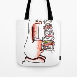 Boogle Vs. Hamburger Tote Bag