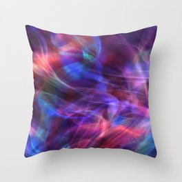 Abstract Shiny Night Lights 20 Throw Pillow