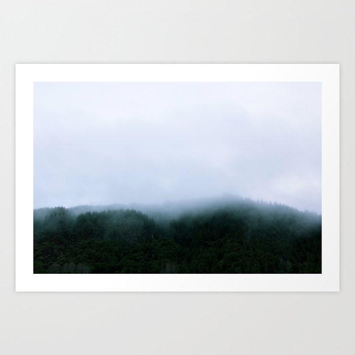 Blue Lake Fog Art Print