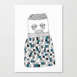 The owl man Canvas Print