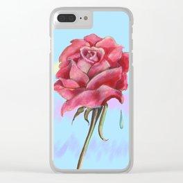 Blue Sky Rose Clear iPhone Case