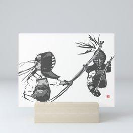 Naginata Sumi-E by Takemi Mini Art Print