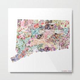 Connecticut map Metal Print