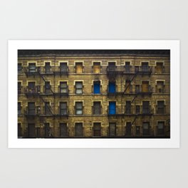 CONDEMNED WITH 3 BLUE DOORS Art Print