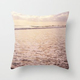 Quiet Moments on Cayucos Beach Throw Pillow