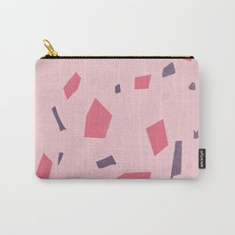 Blush Pink Terrazzo - Marble Granite Stone Speckles Pattern - Texture Carry-All Pouch